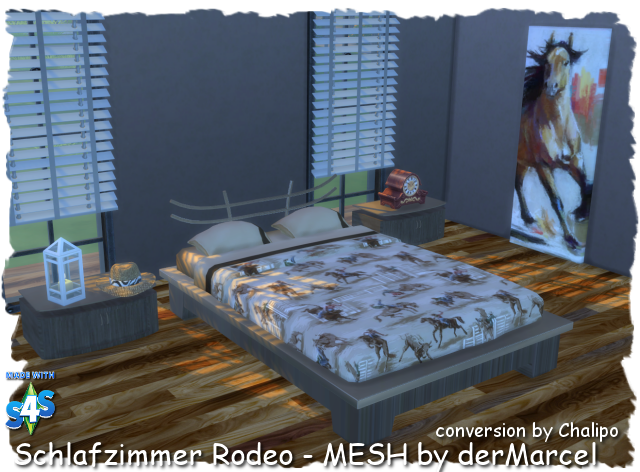 S4 - MESH Schlafzimmer Rodeo - Sims4 - MESHES and ...